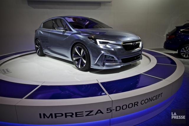 Subaru a dévoilé le concept de l'Impreza cinq... (La Presse, André Pichette)