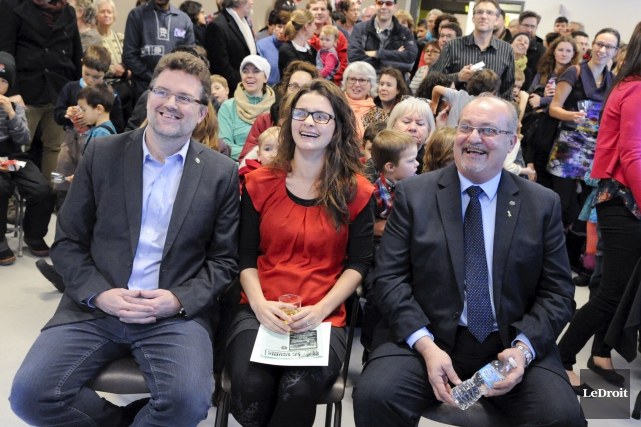Le maire de Gatineau, Maxime Pedneaud-Jobin, la présidente... (Martin Roy, LeDroit)