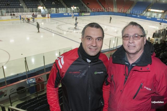 Le président du club de patinage de vitesse... (Photo Le Quotidien, Michel Tremblay)