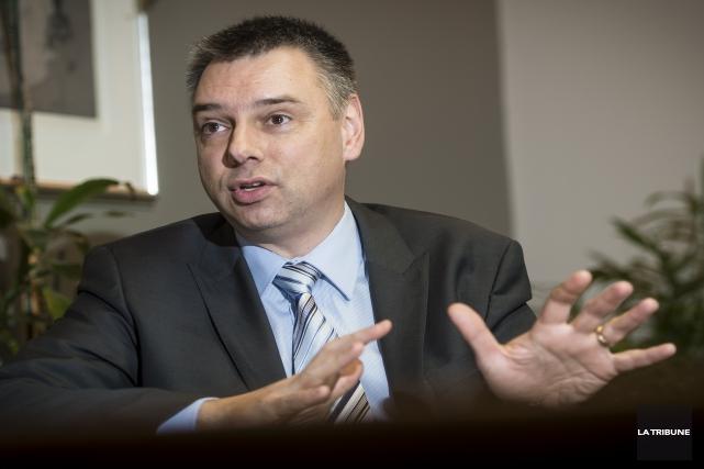 André Bellavance se présente comme candidat aux élections... (Archives, La Tribune)