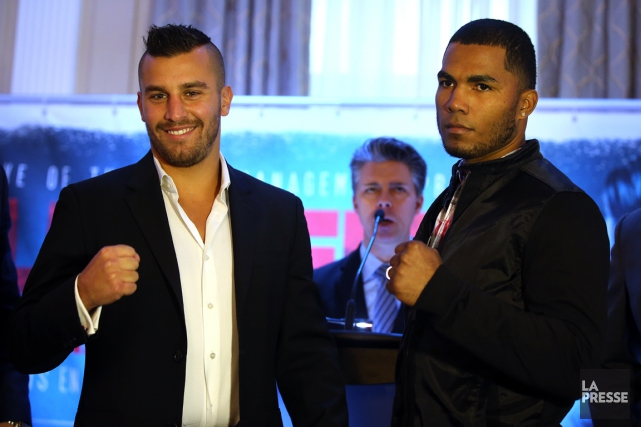 David Lemieux et James De La Rosa... (Photo Martin Chamberland, La Presse)