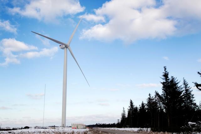 À 42,1%, la part de l'énergie éolienne dans... (PHOTO ARCHIVES AFP)