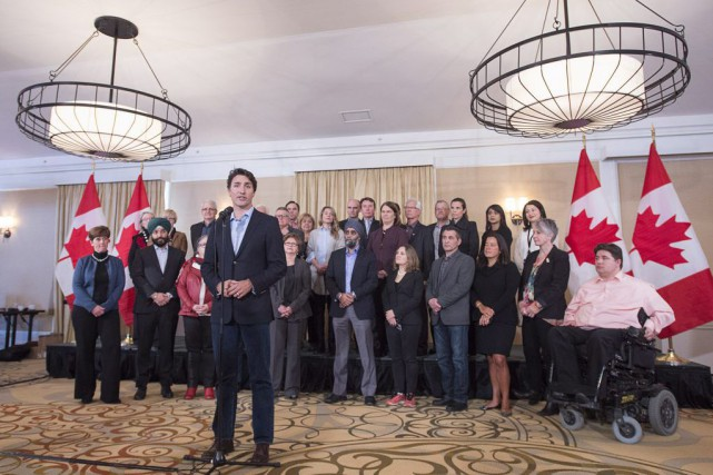 M.Trudeau a pris soin de ne pas écarter... (PHOTO ANDREW VAUGHAN, PC)