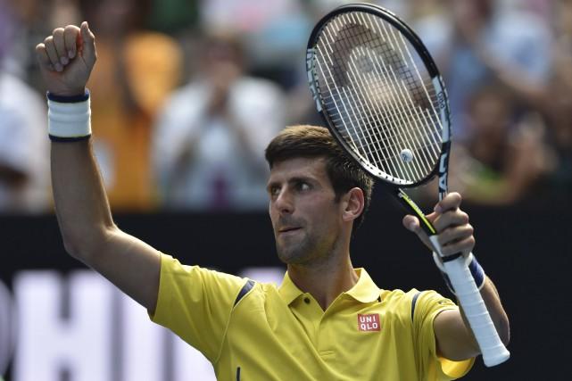 Djokovic a amorcé sa quête d'un sixième titre... (Agence France-Presse)