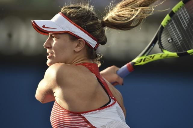 Eugenie Bouchard a vaincu la serbe Aleksandra Krunic.... (Agence France-Presse)