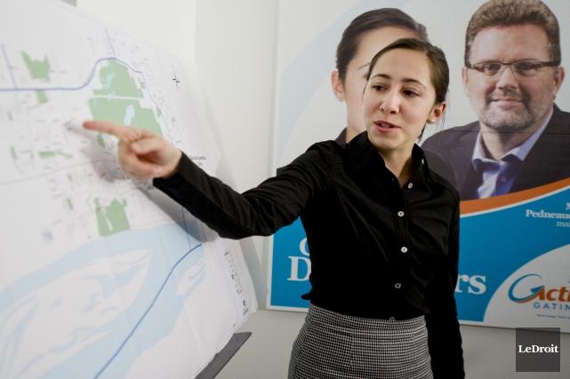 La candidate d'Action Gatineau dans le district Lac-Beauchamp,... (Martin Roy, LeDroit)