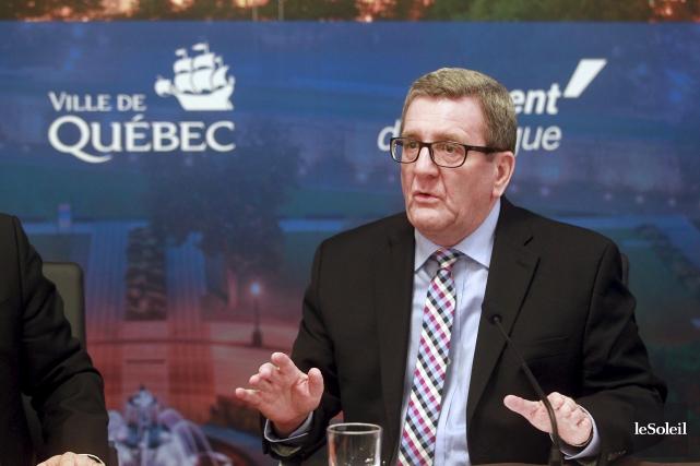 La maire de Québec, Régis Labeaume... (Le Soleil, Pascal Ratthé)