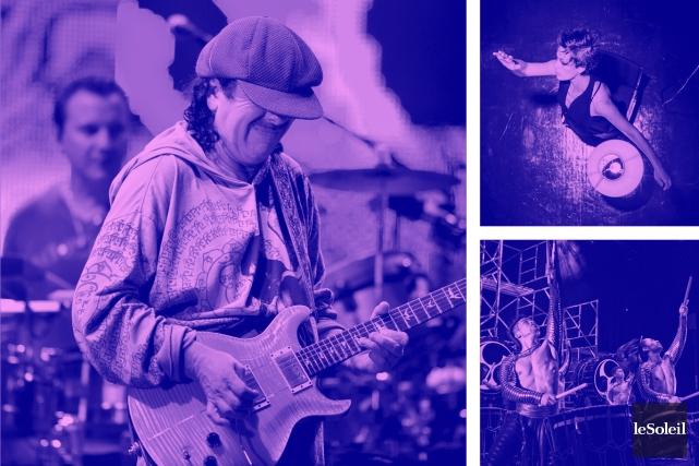 Santana au Centre Vidéotron (Infographie Le Soleil)
