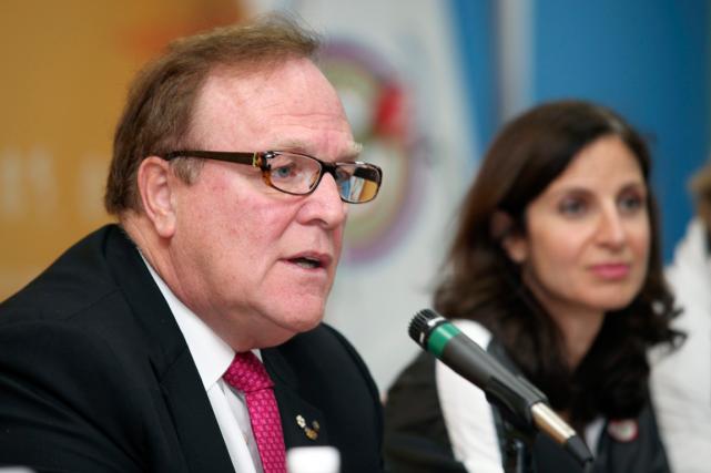 L'ex-président du Comité olympique canadien, Marcel Aubut, etla... (Photo Mike Ridewood, archives PC)