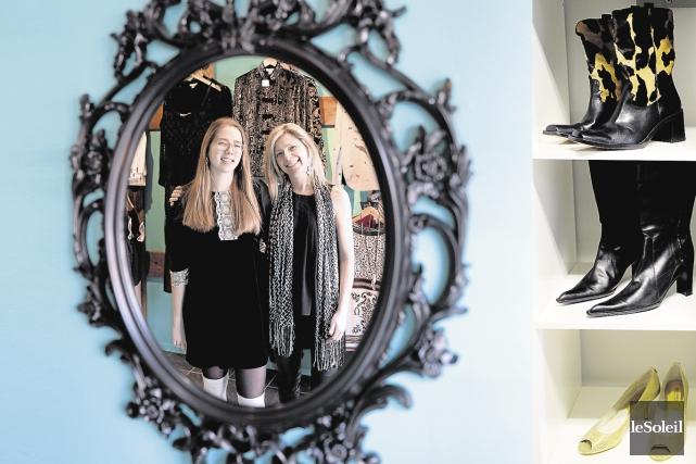 Layla et Vicky Rochefort, le pétillant duo mère-fille... (Le Soleil, Erick Labbé)