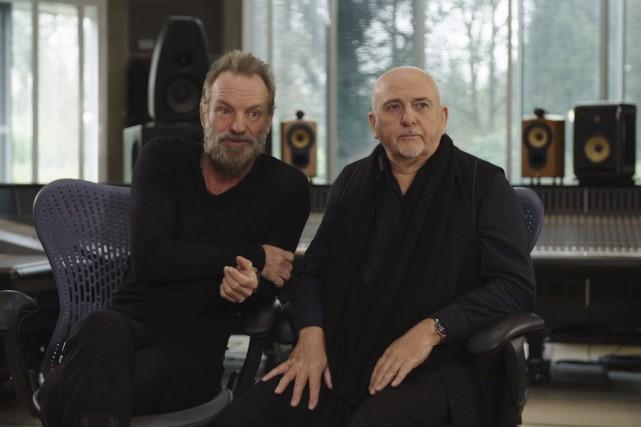 Sting etPeter Gabriel uniront leurs voix et leurs... (Image tirée de la vidéo de la tournée Rock Paper Scissors)