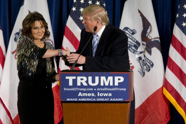 Sarah Palin, sur son ton habituel mélangeant vitriol,... (PHOTO ARCHIVES AP)