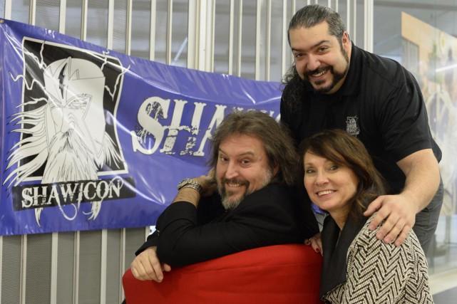 Bryan Perro, directeur général de Culture Shawinigan, Nino... (Sylvain Mayer)