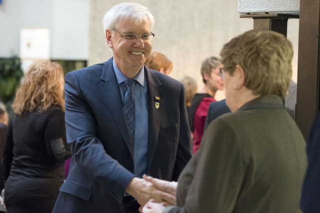 Daniel McMahon, le nouveau recteur de l'UQTR.... (Archives, Stéphane Lessard)