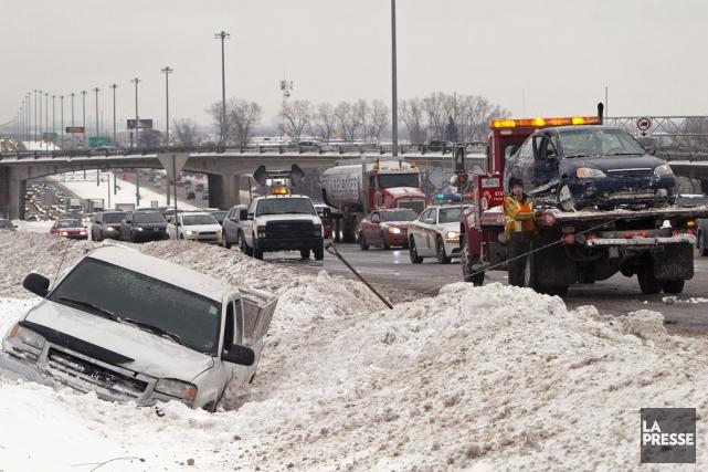 La conduite hivernale n'est pas de tout repos... (Robert Skinner, archives La Presse)