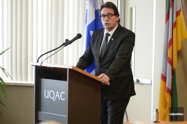 Le chef du Parti québécois, Pierre Karl Péladeau,... (Photo Le Quotidien, Jeannot Lévesque)