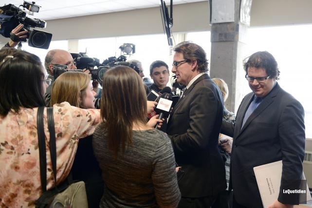 La première journée du caucus du Parti québécois a été marquée par les rumeurs... (Photo Le Quotidien, Jeannot Lévesque)