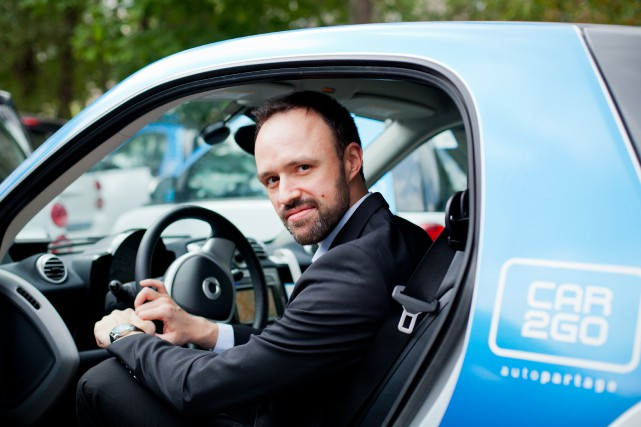 Car2Go «est un transport alternatif qui réduit le... (PHOTO SARAH MONGEAU-BIRKETT, ARCHIVES LA PRESSE)
