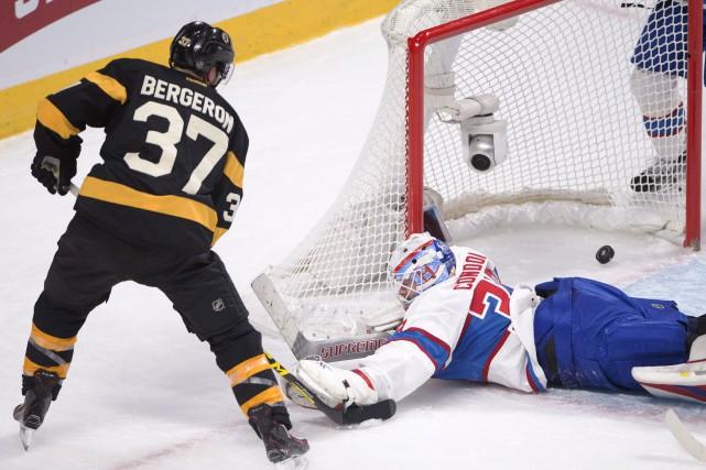 Patrice Bergeron a marqué le but de la... (La Presse Canadienne, Ryan Remiorz)