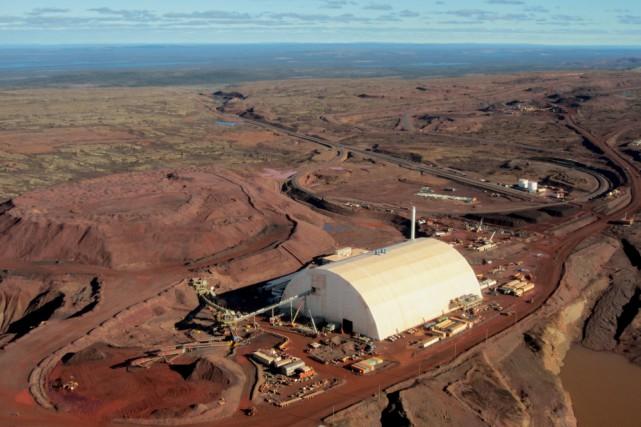 Le site minier du projet DSO exploité par... (Fournie par Tata Steel Minerals Canada)