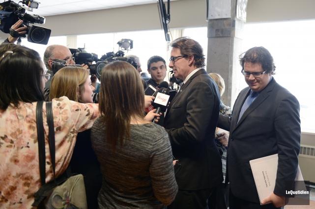 Le chef du Parti québécois, Pierre Karl Péladeau... (Le Quotidien, Jeannot Lévesque)