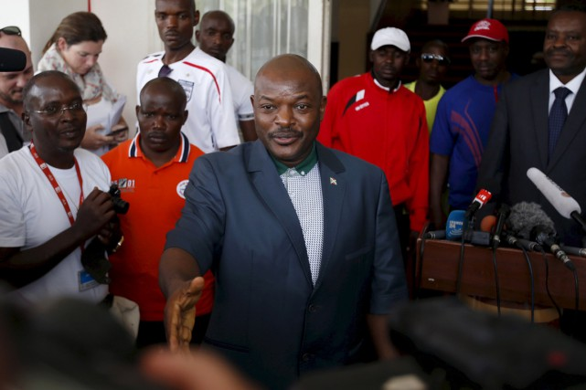 Le président Pierre Nkurunziza à Bujumbura, le 17... (PHOTO GORAN TOMASEVIC, ARCHIVES REUTERS)