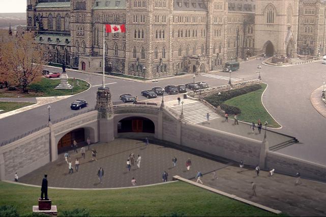 La future entrée qu'emprunteront les visiteurs de la... (Courtoisie CCN)