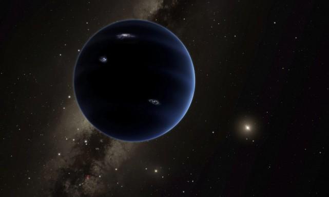 Dessin représentant la planète 9,une géante gazeuse qui... (AP, R. Hurt)