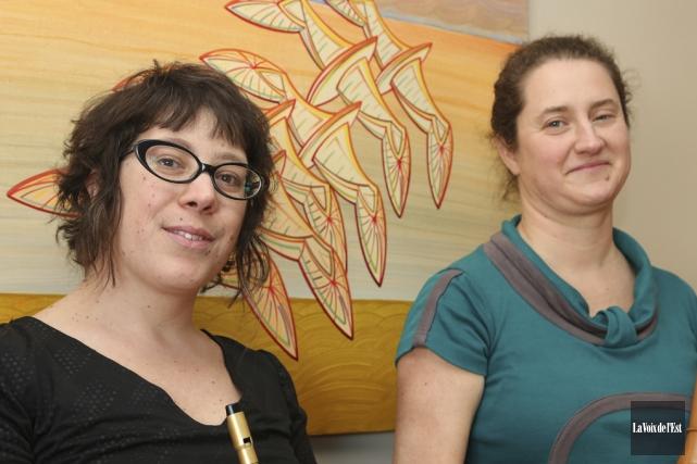 Véronique Brisebois et Eveline Ménard sont les Filles... (Christophe Boisseau-Dion, La Voix de l'Est)