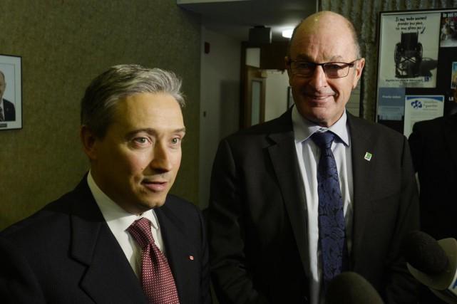 Le maire de Trois-Rivières, Yves Lévesque, était tout... (Sylvain Mayer)