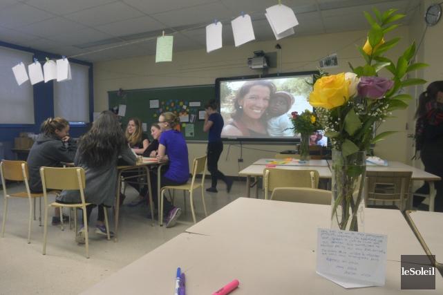 La classe de MaudeCarrier, enseignante à l'école Cardinal-Roy,... (Le Soleil, Jean-Marie Villeneuve)