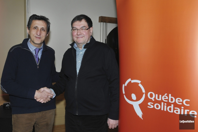 Le député de Québec solidaire dans Mercier, Amir... (Photo Le Quotidien, Rocket Lavoie)