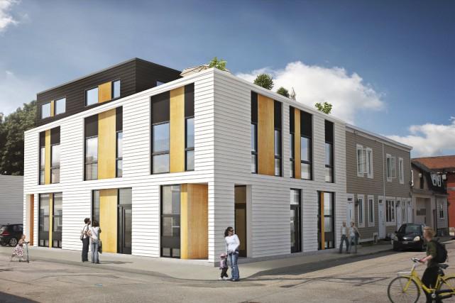 Le projet C4, sur la rue Châteauguay, à... (Image fournie par Étienne Dumas)