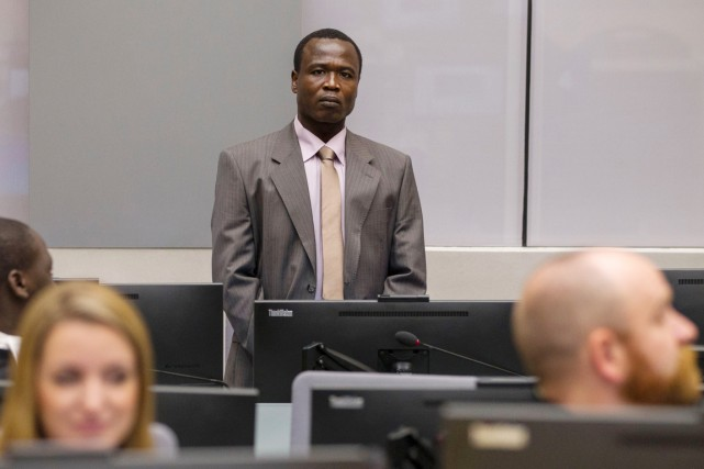 Surnommé la «Fourmi Blanche», Dominic Ongwen fait face... (PHOTO MICHAEL KOOREN, AFP/ANP)