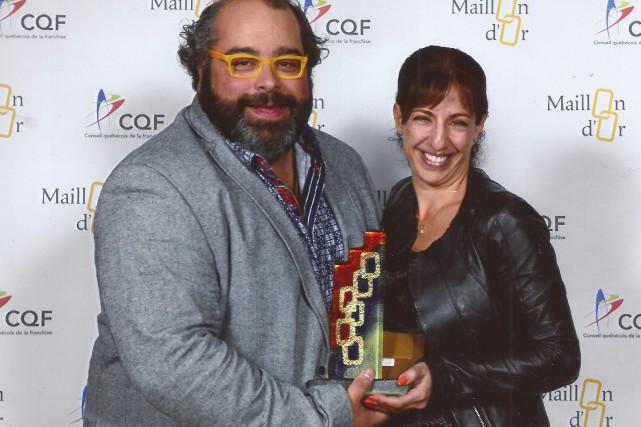 Le Maillon d'Or dans la catégorie Franchiseur/Innovation a... (Photo fournie)