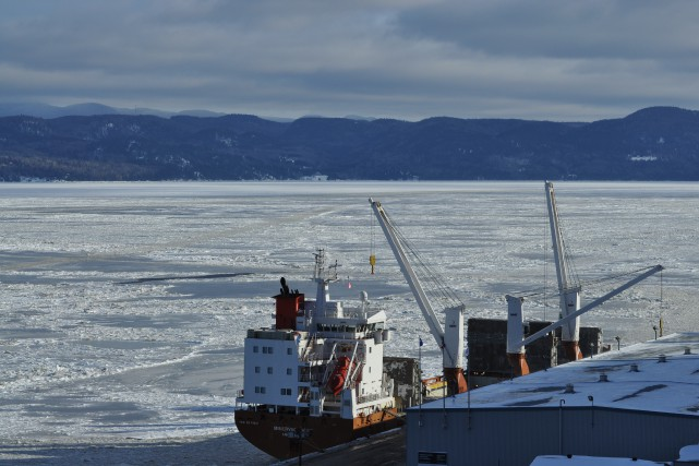 Port Saguenay accueille son premier navire de 2016,... ((Courtoisie))