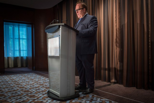 L'ancien président du Comité olympique canadien Marcel Aubut... (PHOTO PETER MCCABE, ARCHIVES LA PRESSE CANADIENNE)
