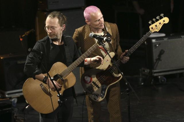 Le chanteur de Radiohead, Thom Yorke, avait partagé... (AFP, Martin Bureau)