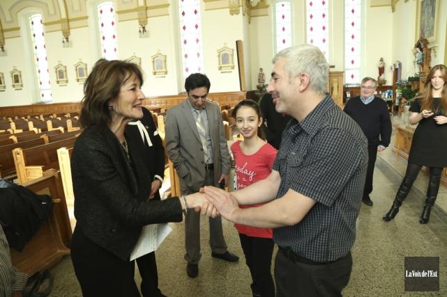 La famille Turk a reçu la visite de... (Janick Marois, La Voix de l'Est)