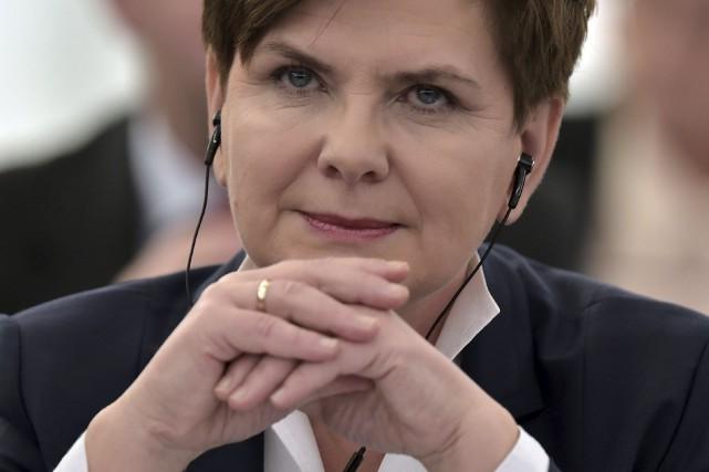 La première ministre polonaise, Beata Szydło... (Agence France-Presse)