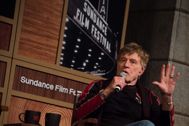 L'acteur américain Robert Redford lors de la conférence... (Photo Valerie MACON, AFP)