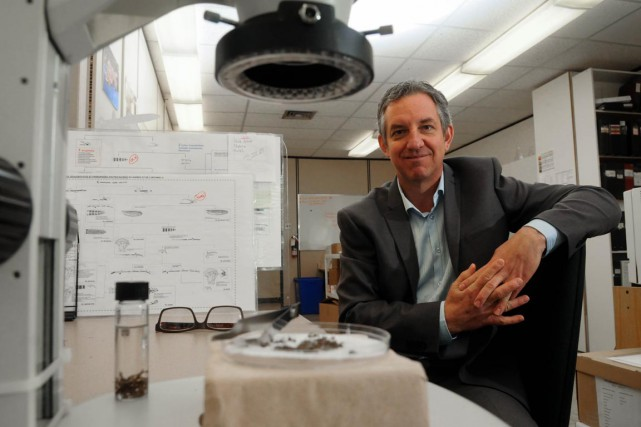 Richard Vadeboncoeur, biologiste et directeur du développement des... (François Gervais)