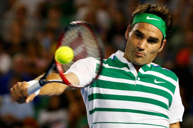 Roger Federers'est qualifié pour les huitièmes de finale... (Photo Thomas Peter, Reuters)