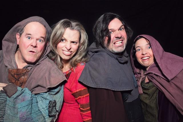 Gervais Arcand, Mélanie Potvin, Éric Chalifour et Sophie... (Photo courtoisie, Patrick Simard)