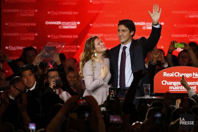 La première dame du Canada, Sophie Grégoire, se... (PHOTO MARTIN TREMBLAY, LA PRESSE)
