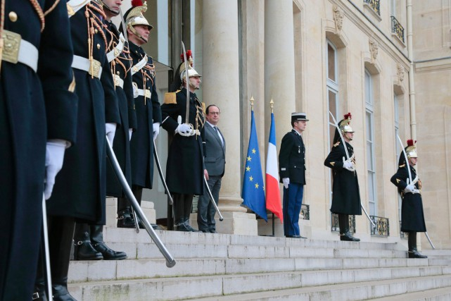 Le président François Hollande à l'Élysée, le 22... (PHOTO JACQUES DEMARTHON, AFP)