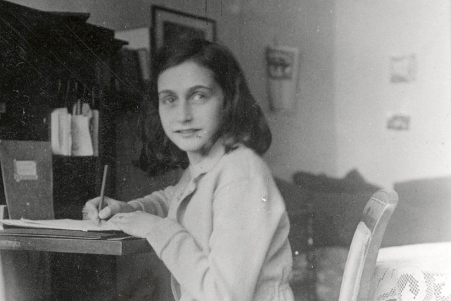 La petite Anne Frank, en 1941.... (PHOTO ARCHIVES AFP)