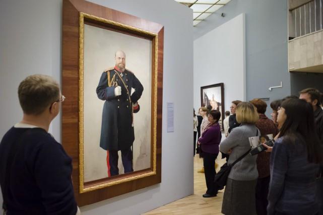 Une exposition consacrée à Valentin Serov, peintre russe du XIXe siècle, a... (PHOTO AP)