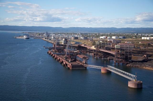 Les installations portuaires de Rio Tinto IOC à... (Photo fournie par Rio Tinto IOC)