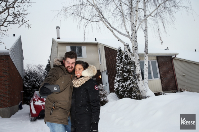 Renaud St-Laurent et sa conjointe Catherine devant leur... (PHOTO Martin Chamberland, LA PRESSE)